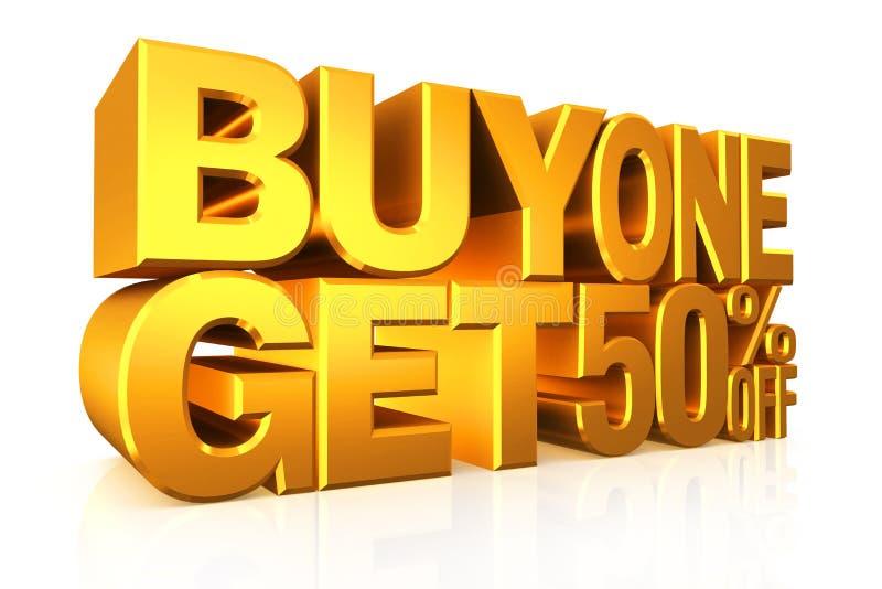 l'affare 2 del testo dell'oro 3D ottiene 50 per cento fuori royalty illustrazione gratis