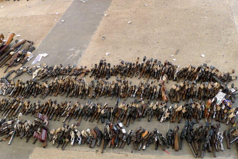 L'affare della pistola indietro programma fotografie stock