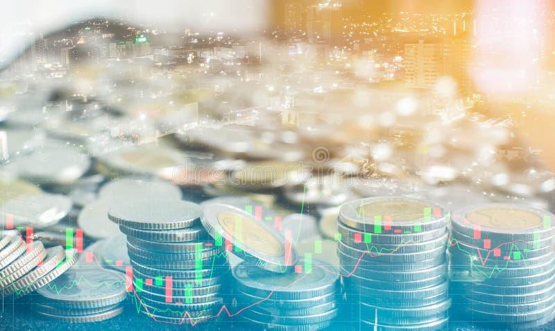 L'affare ed il mercato monetario finanziari Mercato azionario immagine stock libera da diritti