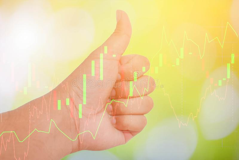 L'affare ed il mercato monetario finanziari Mercato azionario immagini stock