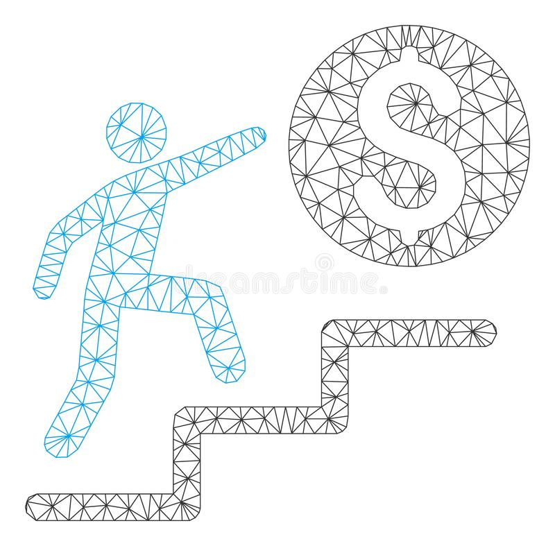 L'affare fa un passo vettore poligonale Mesh Illustration della struttura illustrazione vettoriale
