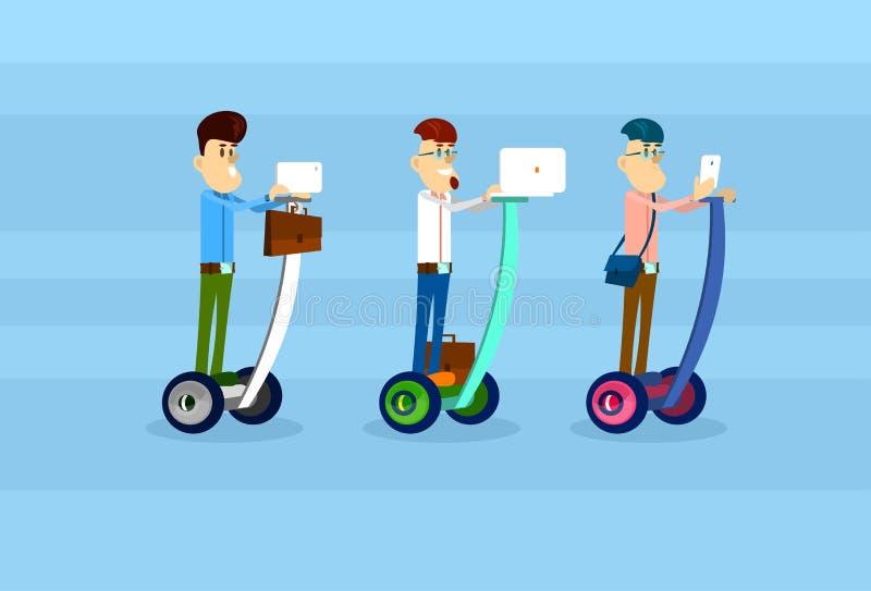 L'affare Man Group guida la comunicazione elettrica della rete sociale dello Smart Phone del computer della compressa del compute royalty illustrazione gratis