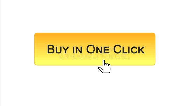 L'affare in un bottone dell'interfaccia di web di clic ha cliccato con il mouse, colore arancio, comperante royalty illustrazione gratis
