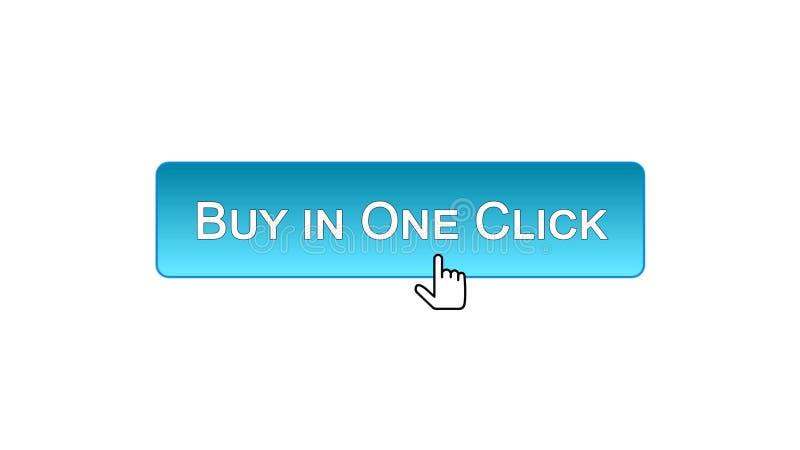 L'affare in un bottone dell'interfaccia di web di clic ha cliccato con il mouse, colore blu, comperante royalty illustrazione gratis