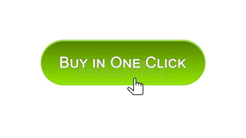 L'affare in un bottone dell'interfaccia di web di clic ha cliccato con il mouse, colore verde, comperante royalty illustrazione gratis