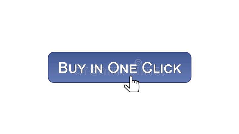 L'affare in un bottone dell'interfaccia di web di clic ha cliccato con il mouse, colore viola, comperante illustrazione di stock