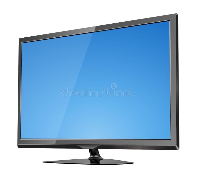 L'affichage à cristaux liquides plat d'écran de TV a mené l'illustration de vecteur illustration de vecteur