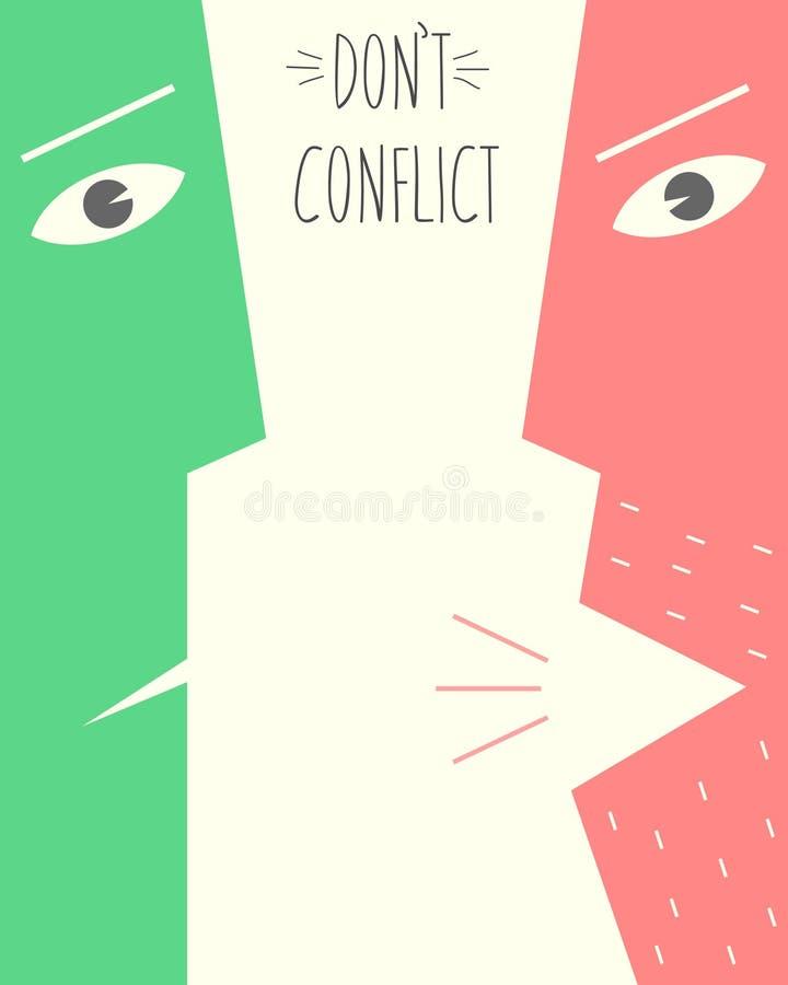 L'affiche n'est pas en conflit illustration libre de droits