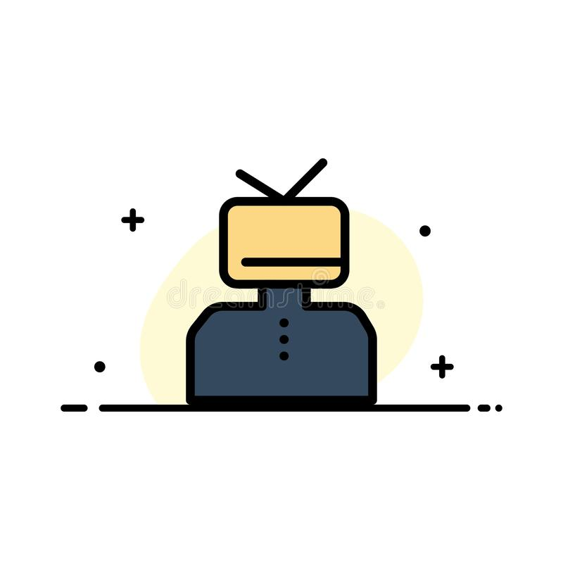 L'affirmation, affirmations, estime, heureuse, ligne plate d'affaires de personne a rempli calibre de bannière de vecteur d'icône illustration de vecteur
