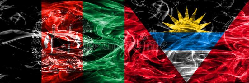 L'Afghanistan contre la fumée de l'Antigua-et-Barbuda marque le côté placé par SI illustration de vecteur
