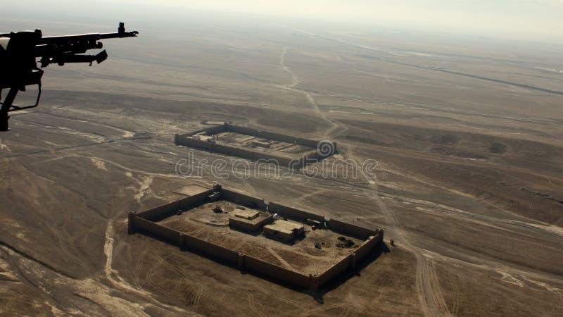 L'Afghanistan da sopra fotografia stock