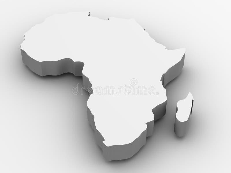 L'Africa. 3d illustrazione vettoriale