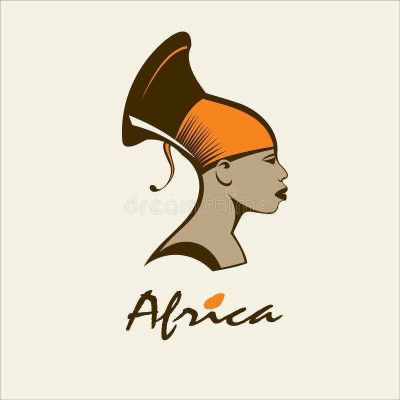 l'africa Donna africana Paese del colpo di colore di busines del Internet di Web di corsa del pianeta della terra del cerchio del illustrazione di stock