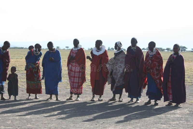 L'Africa, Masai Mara, Masai delle donne fotografia stock libera da diritti