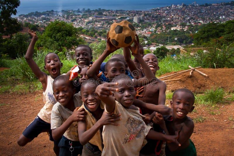 L'Africa, Sierra Leone, Freetown immagini stock
