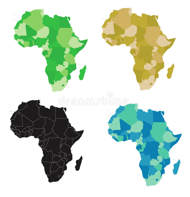 L'Africa - vettore royalty illustrazione gratis