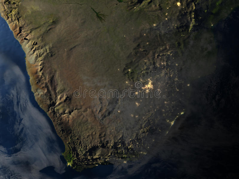 Download L'Afrique Du Sud La Nuit Sur Terre De Planète Illustration Stock - Illustration du planète, nuit: 87700418