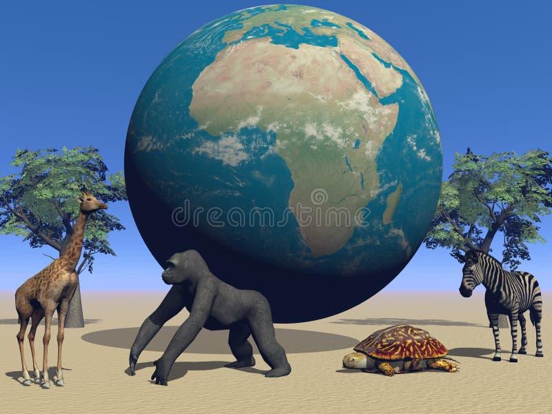l'Afrique et animaux illustration stock
