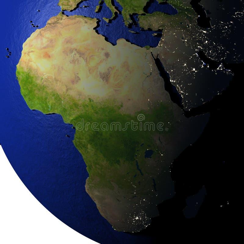 Download L'Afrique Sur Le Modèle De La Terre Avec La Terre De Relief Illustration Stock - Illustration du africain, earth: 87700790