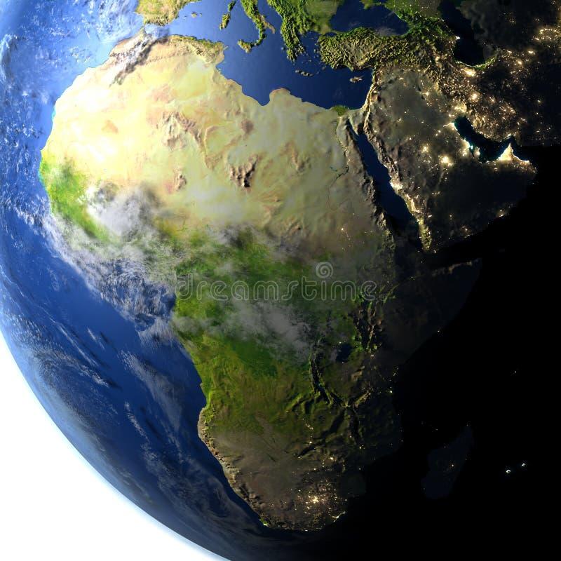 Download L'Afrique Sur Terre De Planète Illustration Stock - Illustration du foncé, earth: 87700704