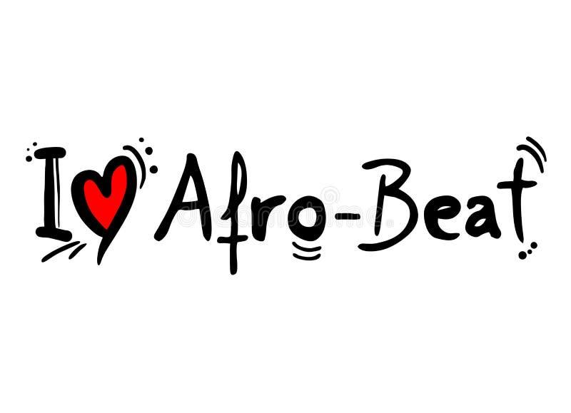 L'afro batte il messaggio di amore royalty illustrazione gratis