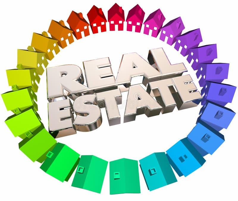 L'agence d'agents de Real Estate loge des maisons à vendre illustration de vecteur