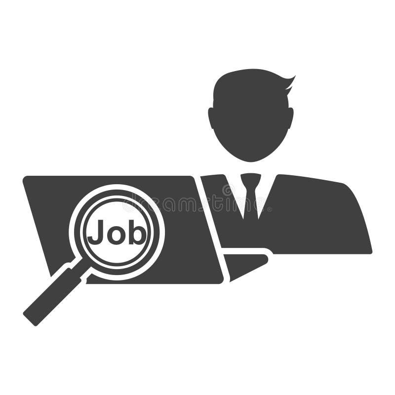 L'agent de recrutement choisit le travail pour le demandeur Graphisme de vecteur sur le fond blanc illustration de vecteur
