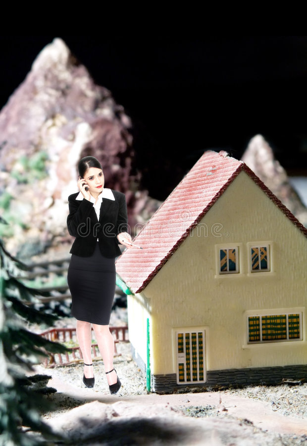 L'agent immobilier réel image libre de droits