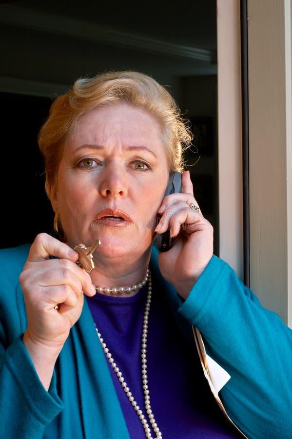 L'Agente immobiliare-ora ascolta?. fotografia stock libera da diritti