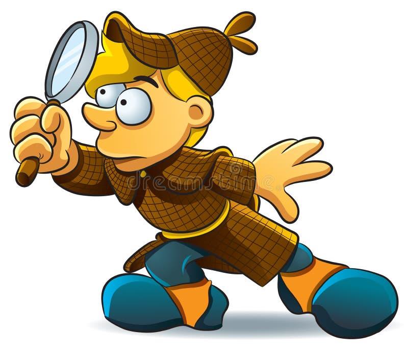 L'agente investigativo studia illustrazione di stock