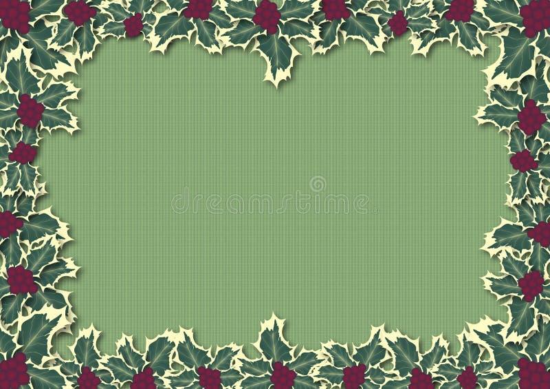L'agrifoglio lascia il verde del bordo illustrazione vettoriale