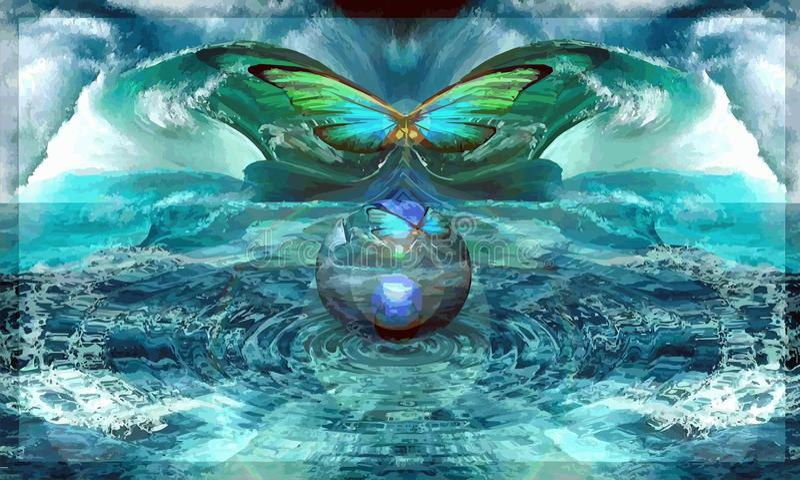 L'aile-battement d'un papillon, appelle l'ouragan photo libre de droits