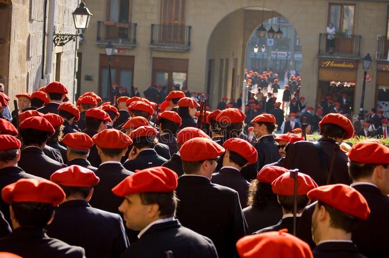 L'Alarde de San Marcial à Irun Guipuzcoa, Espagne image stock