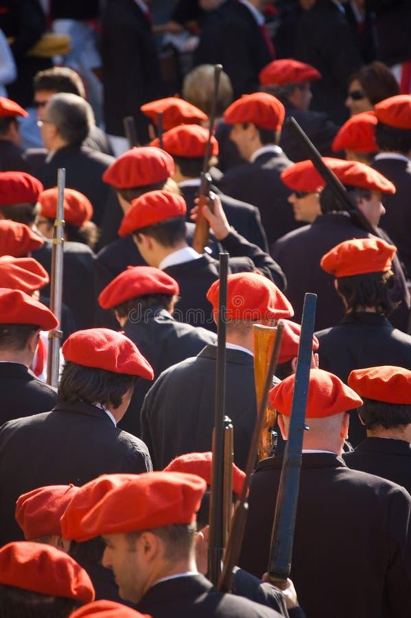 L'Alarde de San Marcial à Irun Guipuzcoa, Espagne photos libres de droits