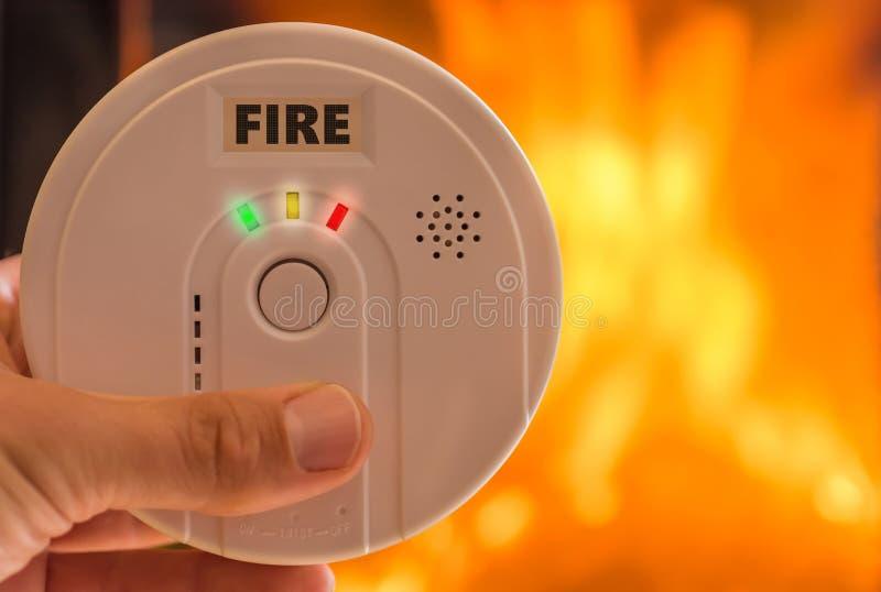 L'alarme d'incendie avant un feu déclenche l'alarme images libres de droits