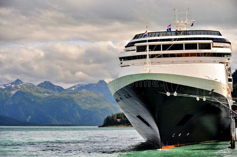 L'Alaska dal lato di una nave da crociera immagine stock