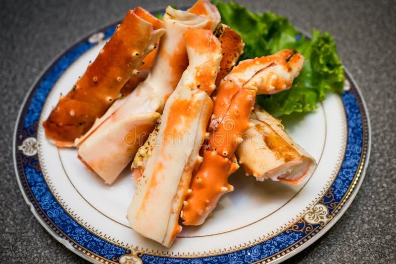 L'Alaska, gambe di re Crab immagine stock libera da diritti