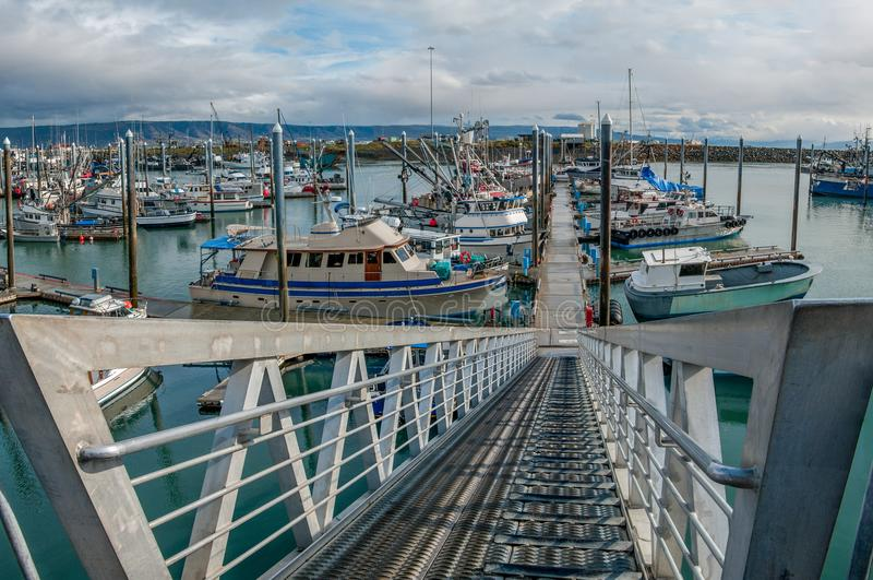 L'Alaska Marina Entrance photo stock