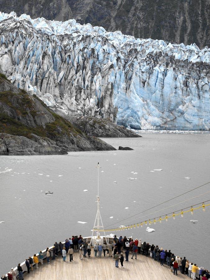 L'Alaska - nave da crociera - ghiacciaio di Margerie fotografia stock libera da diritti