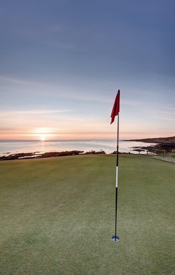 L'alba di golf - fortifichi il corso, la st Andrews fotografia stock