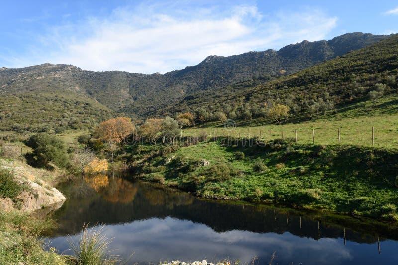 l Albera在Ampurdan,希罗纳省, Catal自然公园  免版税库存图片