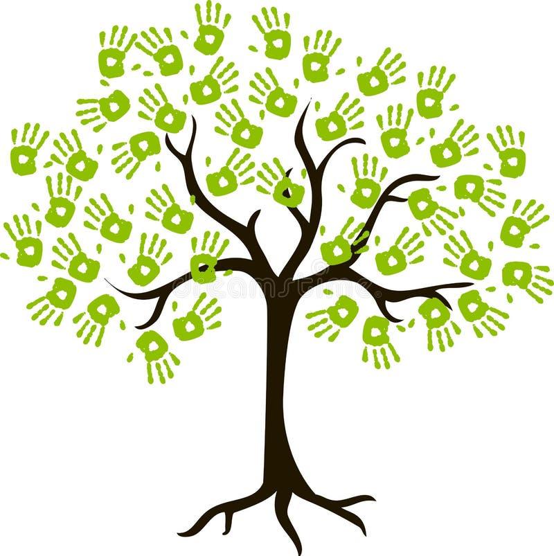 L'albero dei handprints fotografia stock