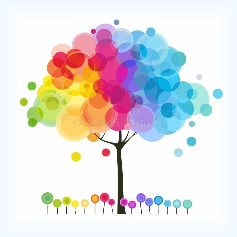 L'albero del Rainbow illustrazione di stock