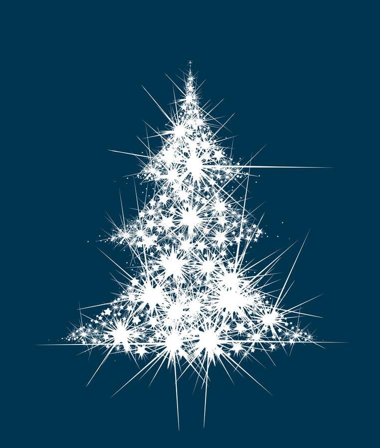L'albero di Natale astratto di vettore stars la forma illustrazione vettoriale