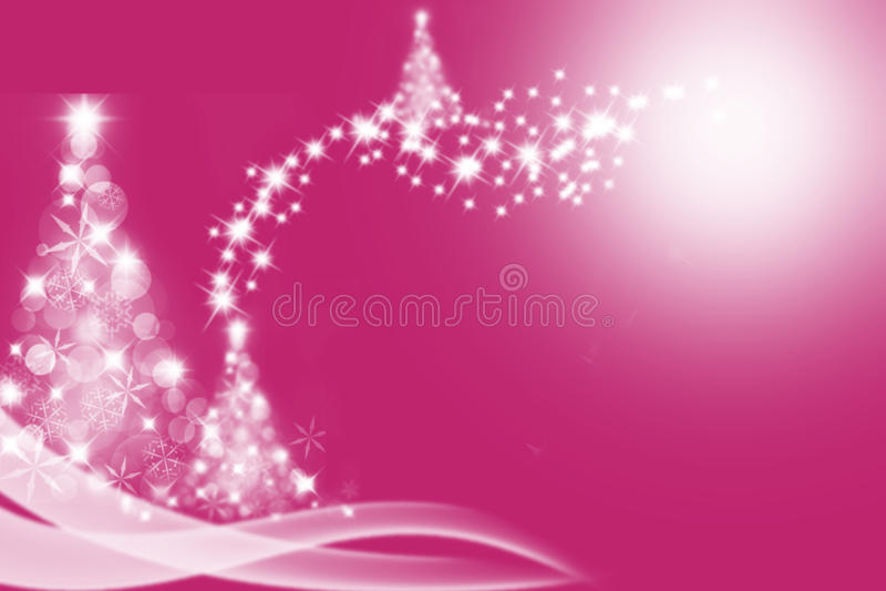 L'albero di Natale ha modellato da lensflare e da bokeh sopra illustrazione di stock