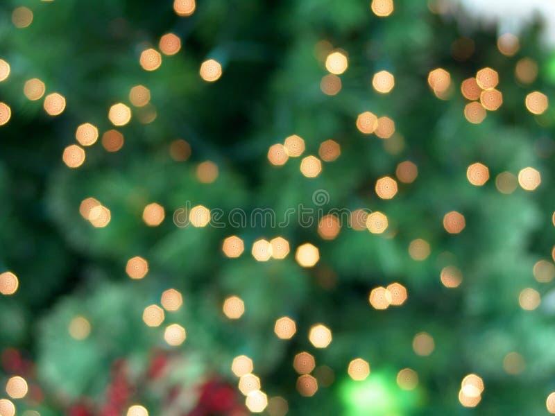 L'albero di Natale illumina la priorità bassa astratta fotografia stock libera da diritti