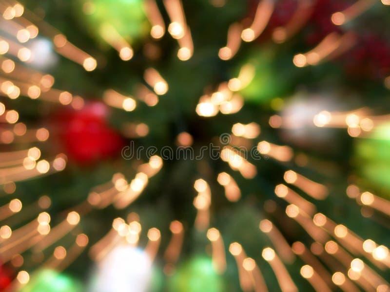 L'albero di Natale illumina la priorità bassa astratta immagini stock