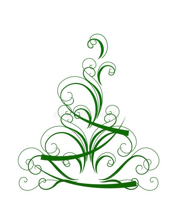 L 39 albero di natale stilizzato ha isolato illustrazione for Albero natale stilizzato