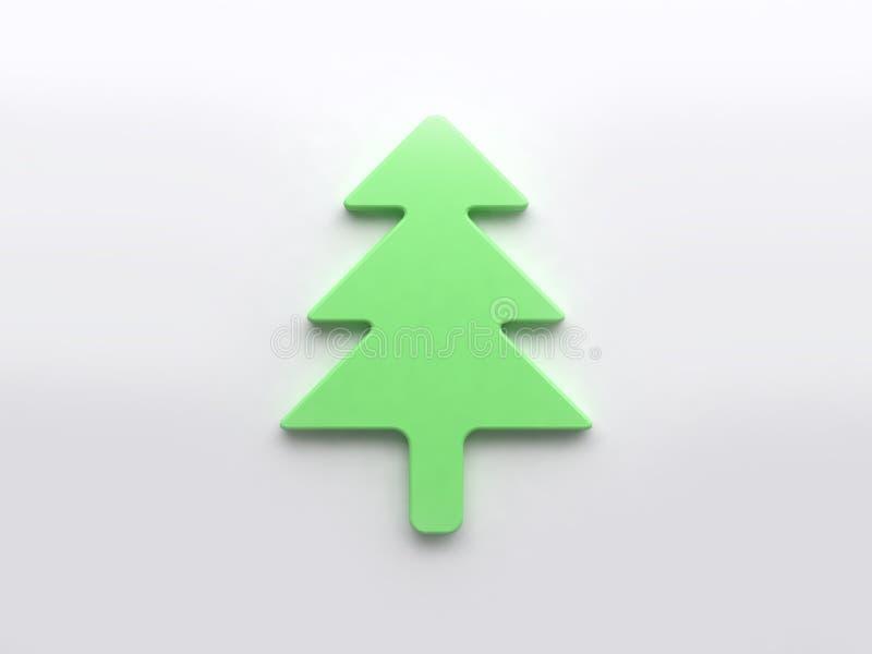 L'albero di Natale verde 3d rende, concetto del fondo di festa di natale illustrazione vettoriale