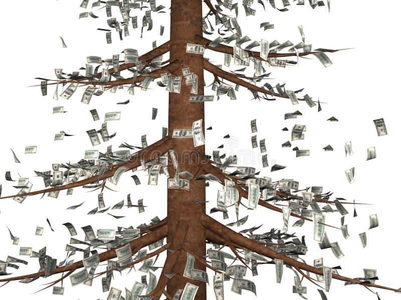 L'albero di soldi illustrazione vettoriale